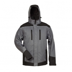2-in-1 Winter-Softshelljacke elysee, grau/schwarz