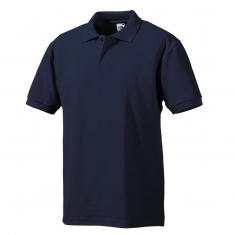 Polo-Shirt FRUIT of the LOOM, einfarbig, marineblau