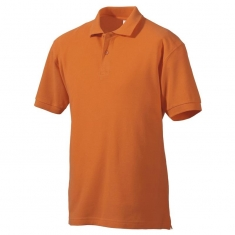 Polo-Shirt FRUIT of the LOOM, einfarbig, orange
