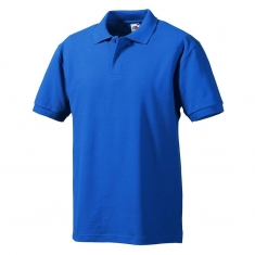 Polo-Shirt FRUIT of the LOOM, einfarbig, royalblau