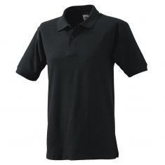 Polo-Shirt FRUIT of the LOOM, einfarbig, schwarz