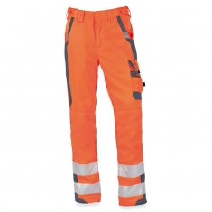 Warnschutz-Arbeitshose pka SAFETY Comfort, orange/grau