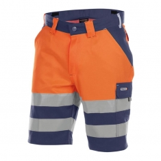 DASSY Warnschutz-Shorts VENNA, orange/marine