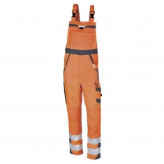 Warnschutz-Latzhose pka SAFETY Comfort, orange/grau