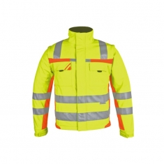 Warnschutz-Winter-Softshell, pka, gelb/orange