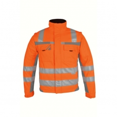 Warnschutz-Winter-Softshell, pka, orange/grau