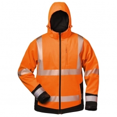 Winter-Softshelljacke EN471, elysee, orange/schwarz