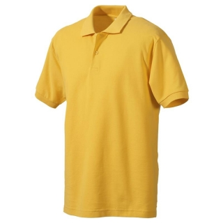 Polo-Shirt FRUIT of the LOOM, einfarbig, gelb