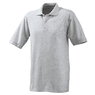 Polo-Shirt FRUIT of the LOOM, einfarbig, grau