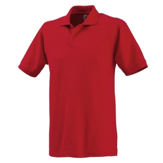Polo-Shirt FRUIT of the LOOM, einfarbig, rot
