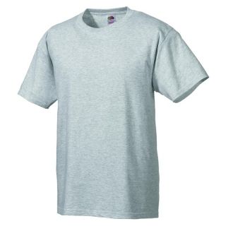 T-Shirt FRUIT of the LOOM, einfarbig, grau