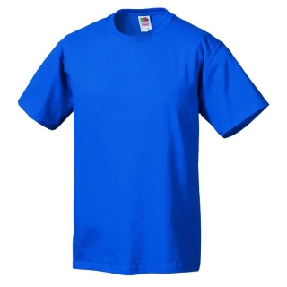 T-Shirt FRUIT of the LOOM, einfarbig, royalblau