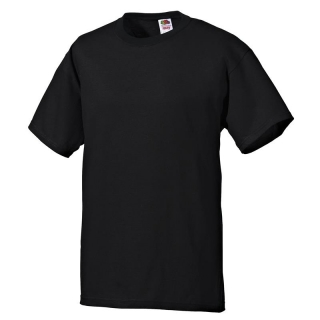 T-Shirt FRUIT of the LOOM, einfarbig, schwarz