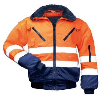 Warnschutz-Pilotenjacke 4-in-1, orange/blau