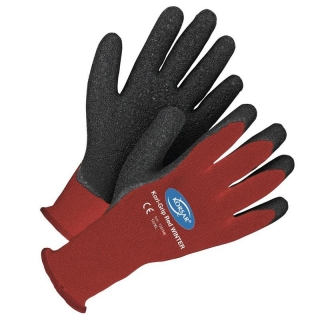 Winter-Arbeitshandschuh, KORI GRIP, latexbeschichtet, rot