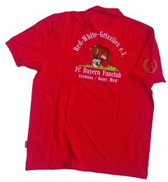 Poloshirt mit Stick FC Bayern Fanclub Grafenau